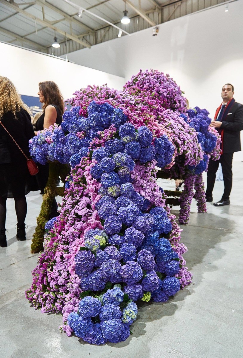 Flower Installation Mi-Ro Designer SS19 Couture Collection