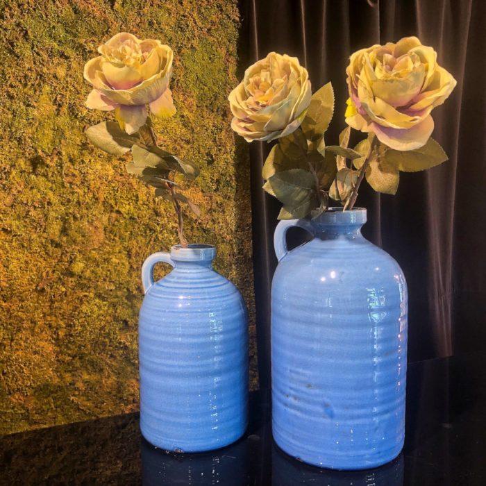Διακοσμητικά Βάζα Υφασμάτινα Λουλούδια