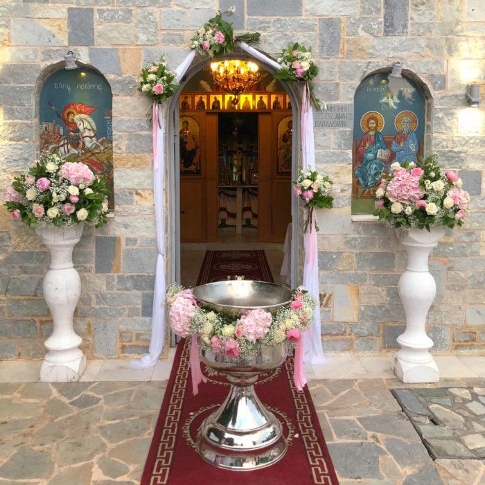 Christening Decoration White Columns