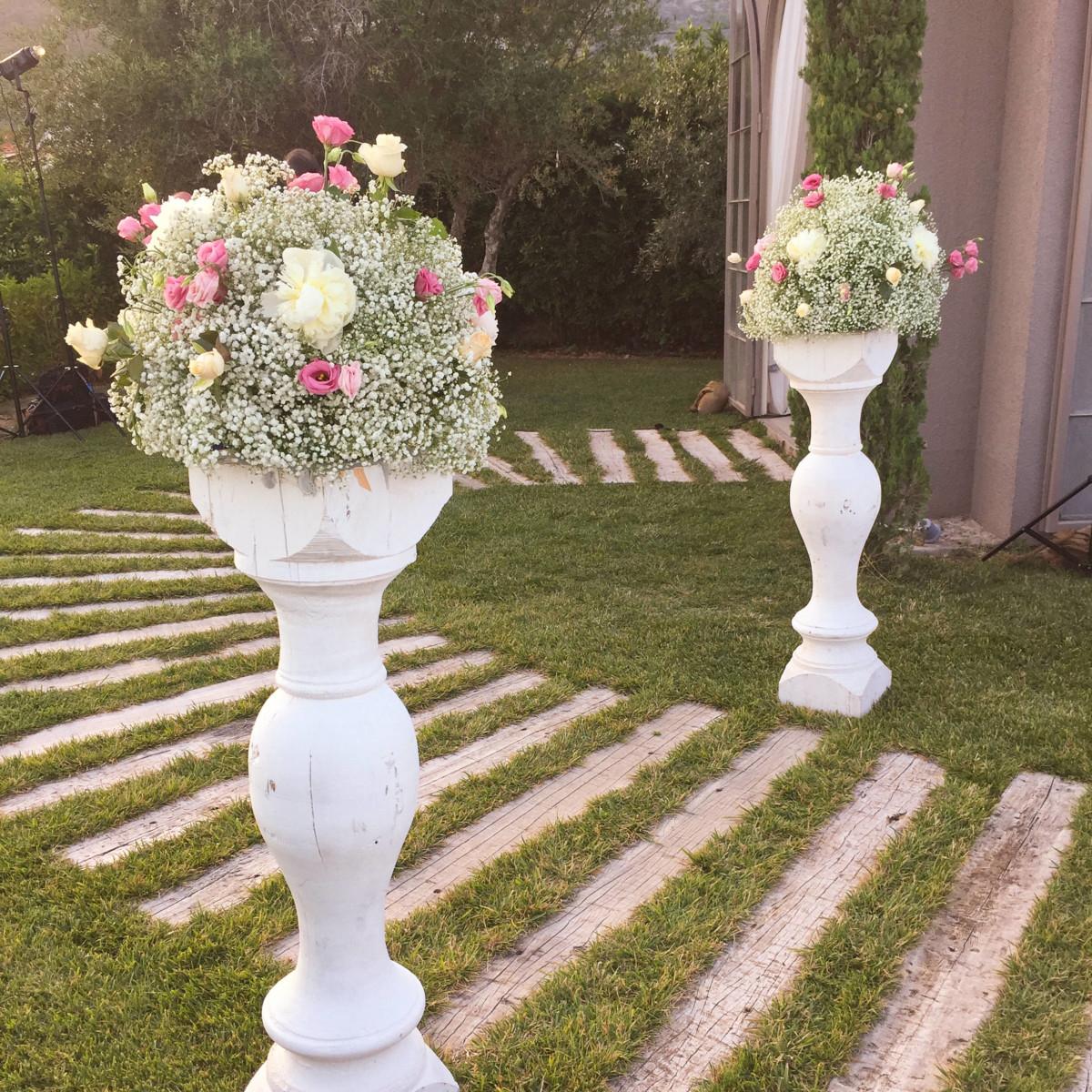 White Columns Wedding Bases