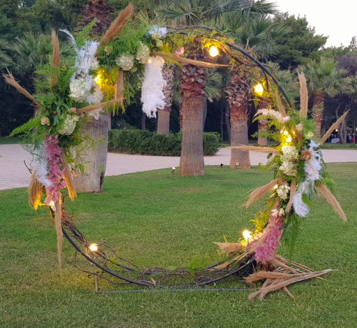 Wedding Reception Flower Circle