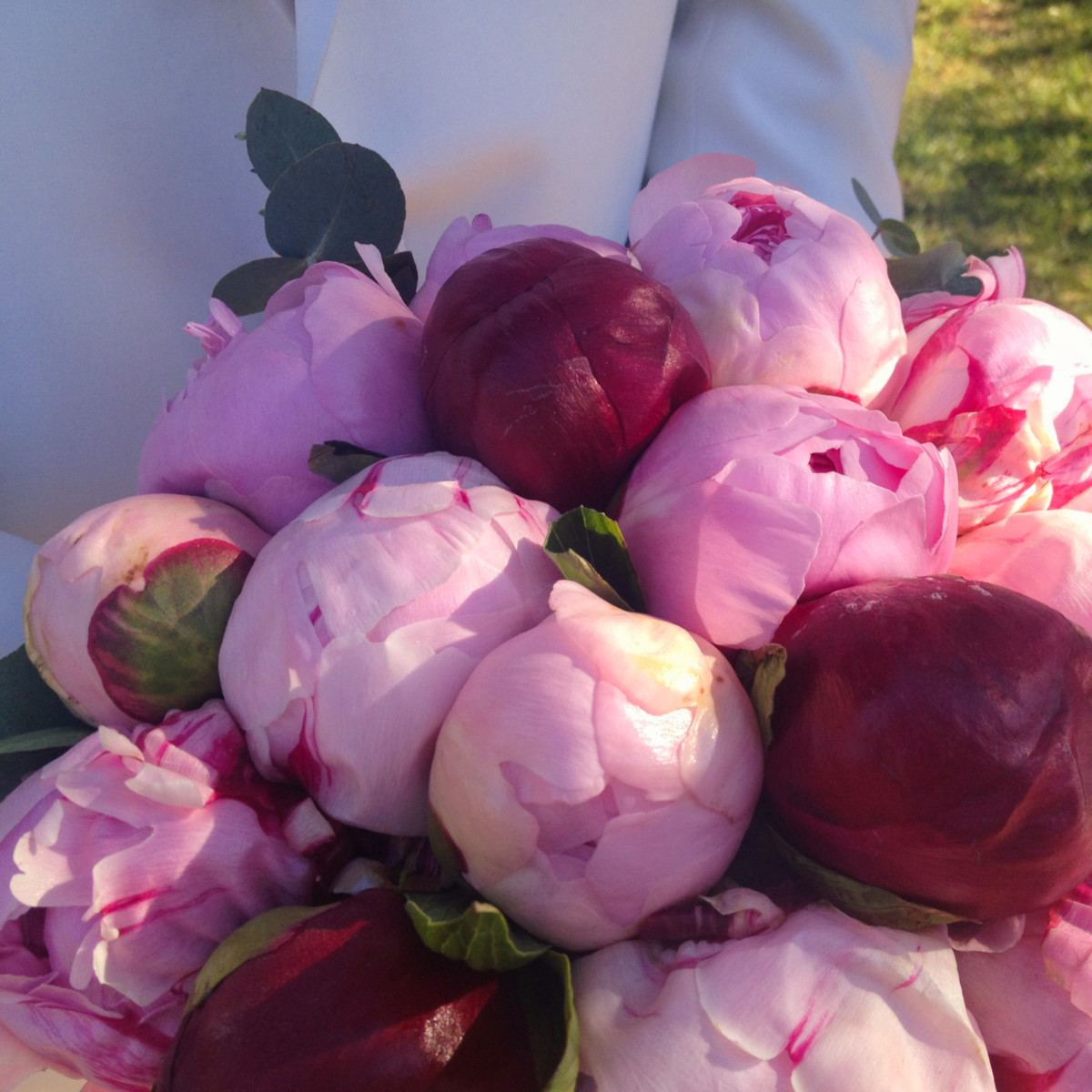 Bridal Bouquet Peonies Red