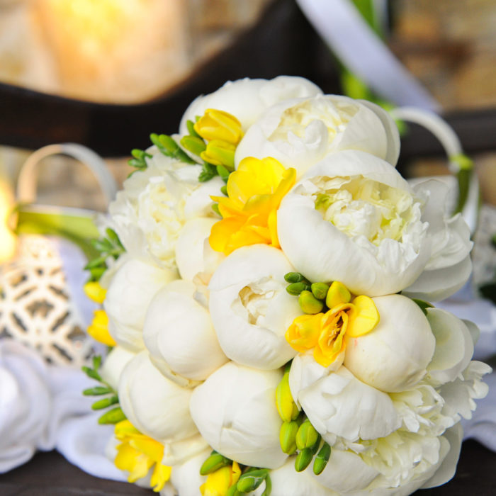 Bridal Bouquet Peonies & Freesia