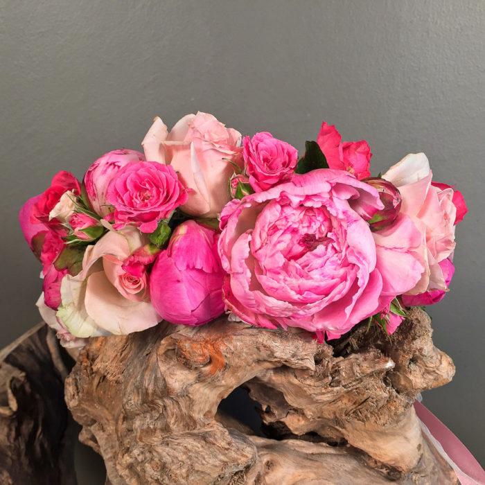 Wedding Corsage Peonies & Roses