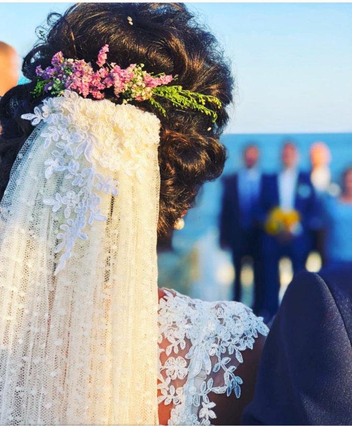 Bridal Hair Comb Limonium