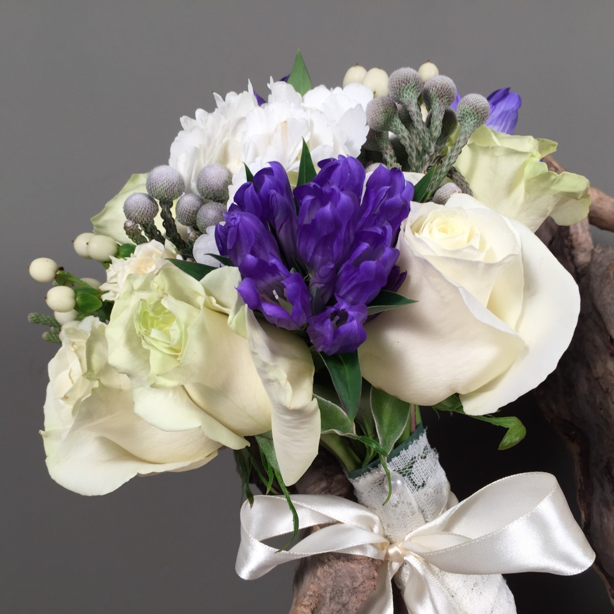 Bridal Bouquet Blue Iris