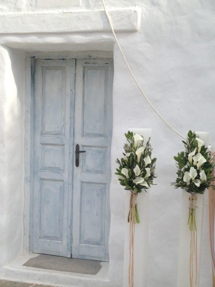 Λαμπάδες Γάμου Λευκές Κάλλες
