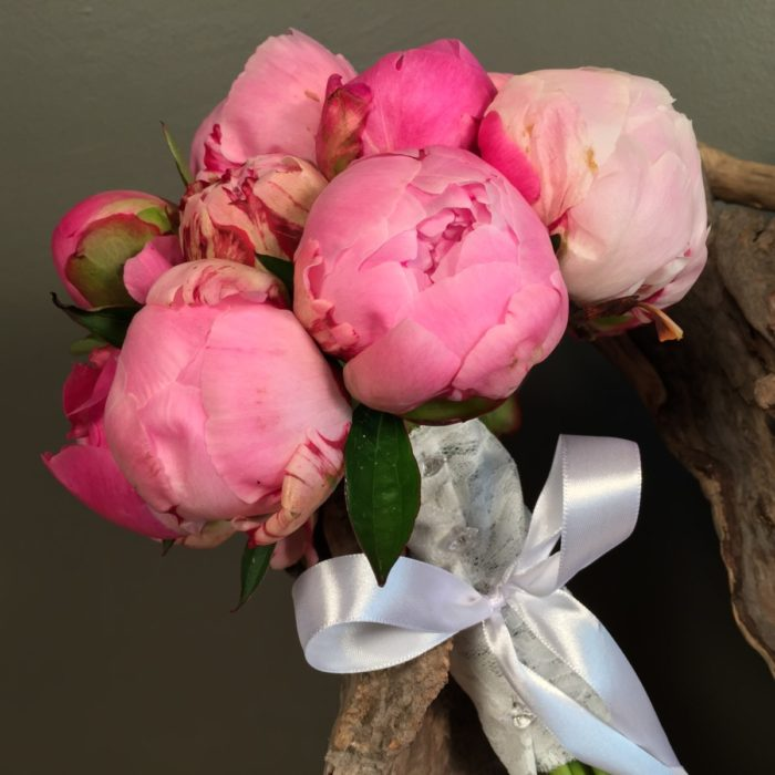 Pink & Fuchsia Peonies Bridal Bouquet
