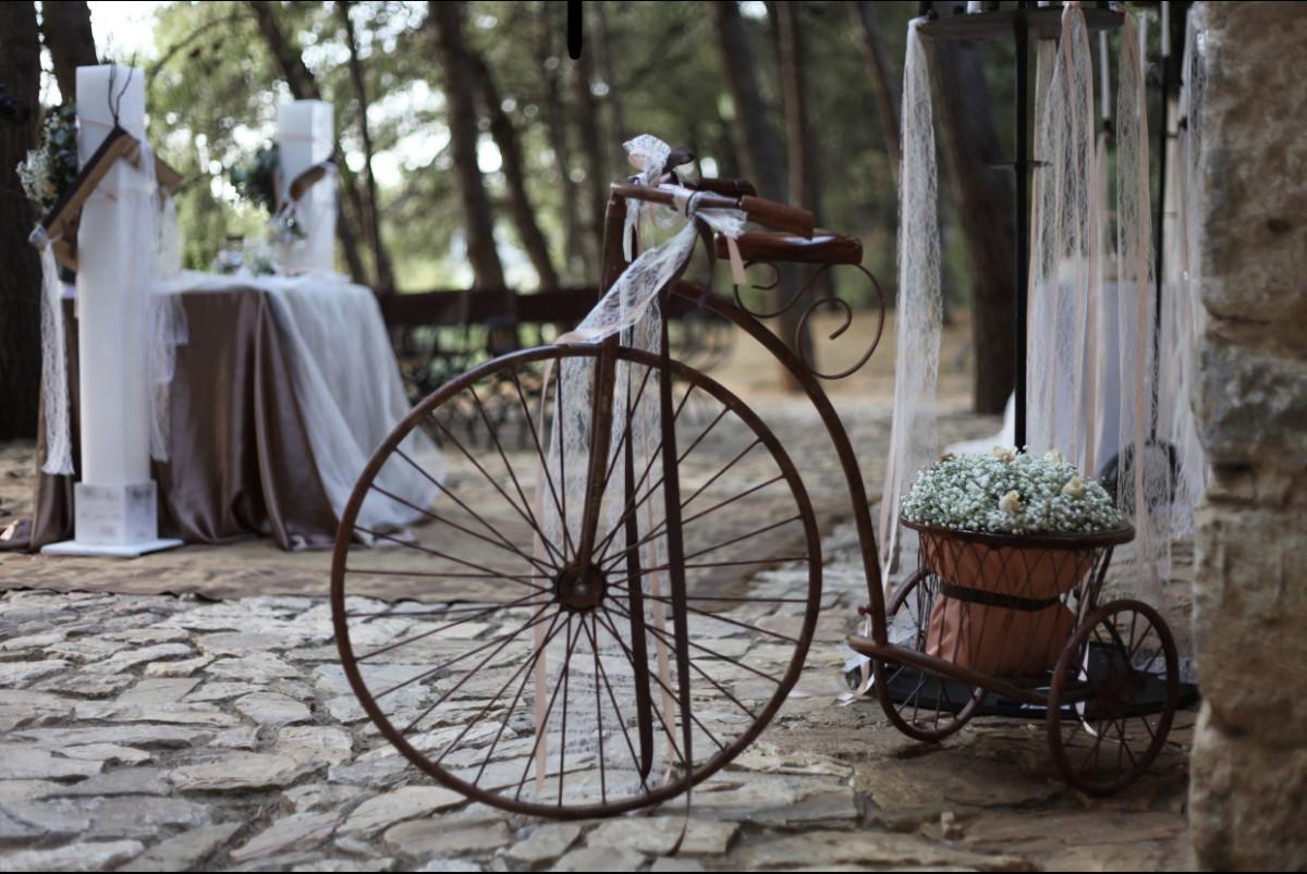 Christening Decoration Brown Bike