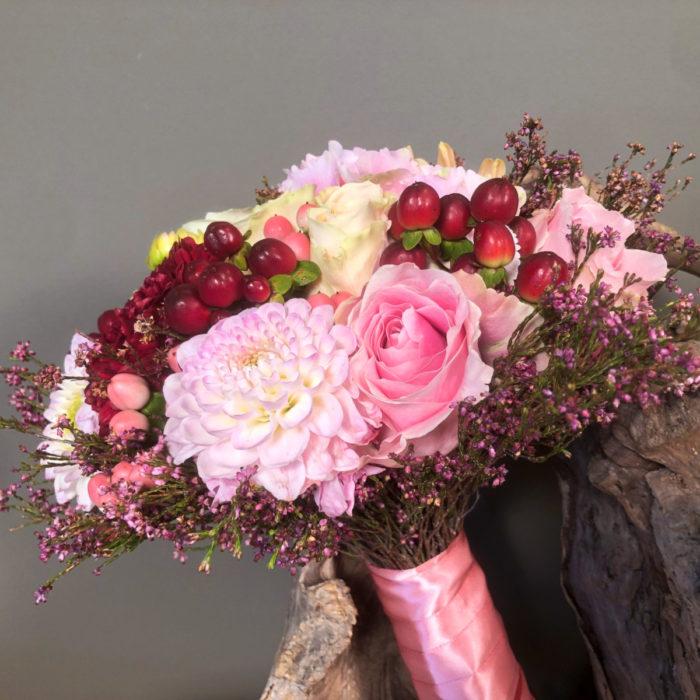 Bridal Bouquet Dahlias Hydrangeas