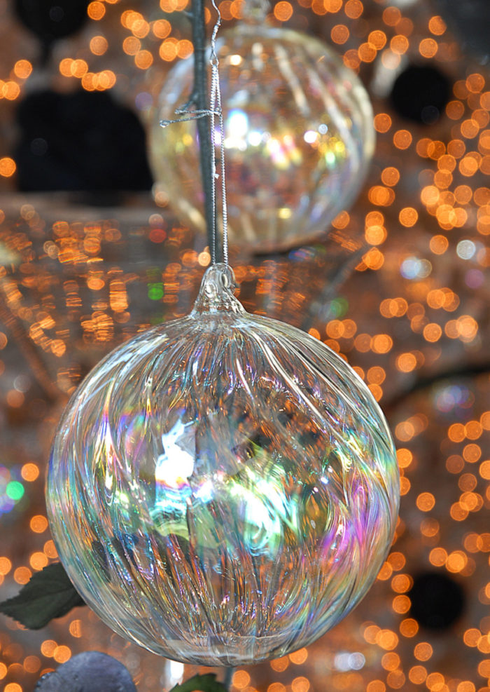 Christmas Ball Pearl Glass