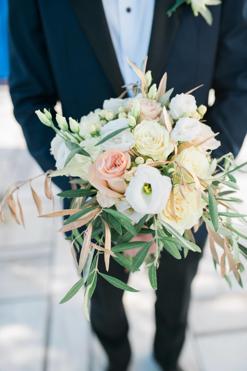 Bridal Bouquet Olive Leaves