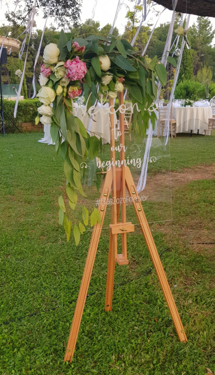 Venue Decoration Easel Wedding's Hashtag