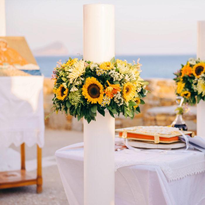 Λαμπάδες Γάμου Στολισμός Κύθνος