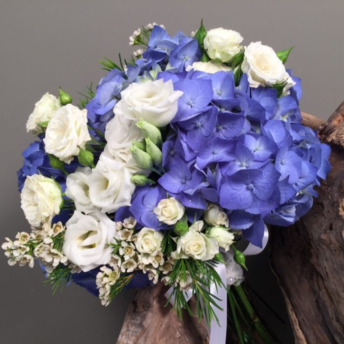 Bridal Bouquet Blue Hydrangeas