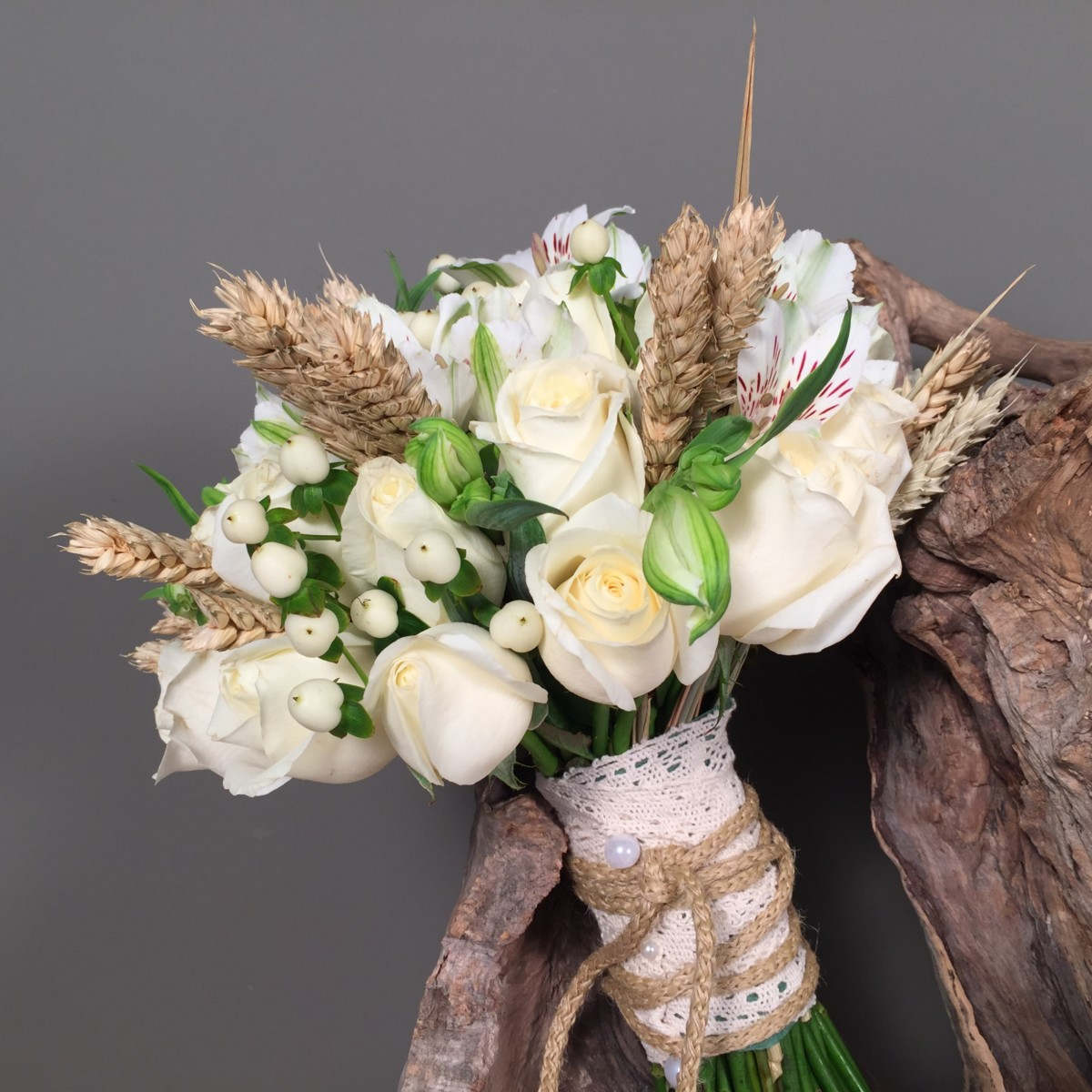 Bridal Bouquet Dry Wheat
