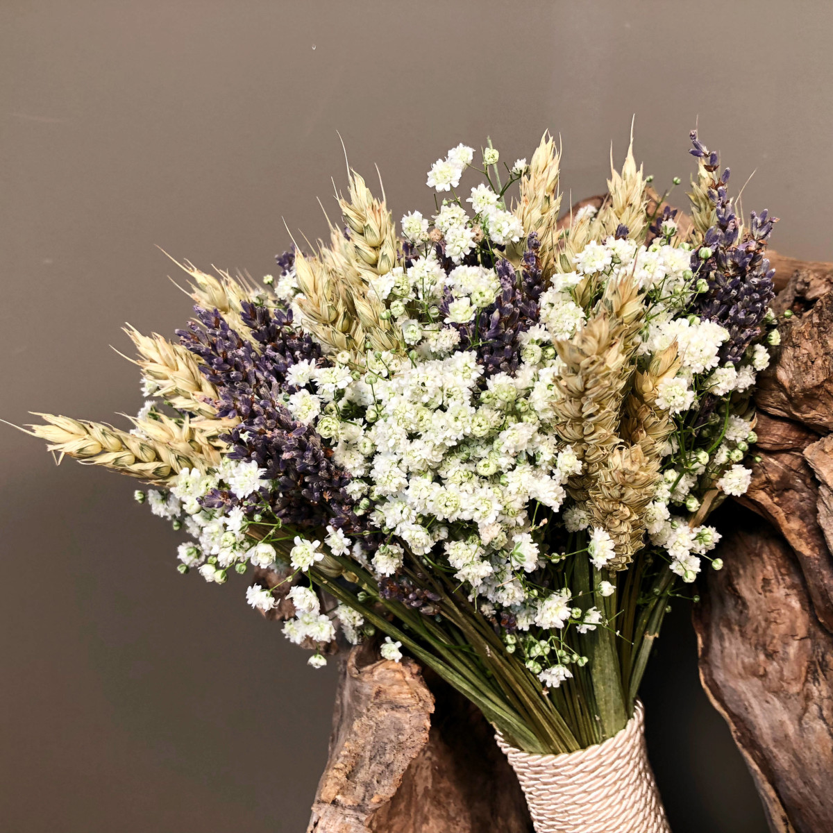 Neda Decorations Bridal Bouquet Dried Lavender Wheat Baby S Breath