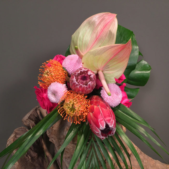 Bridal Bouquet Tropical Theme