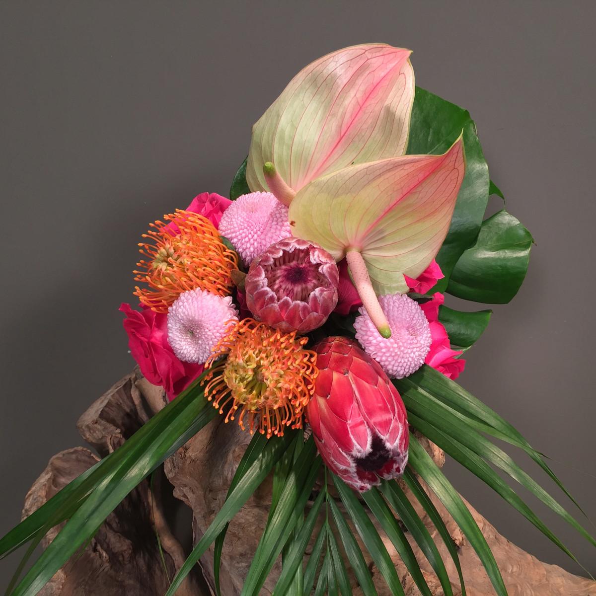 Bridal Bouquet Tropical Theme