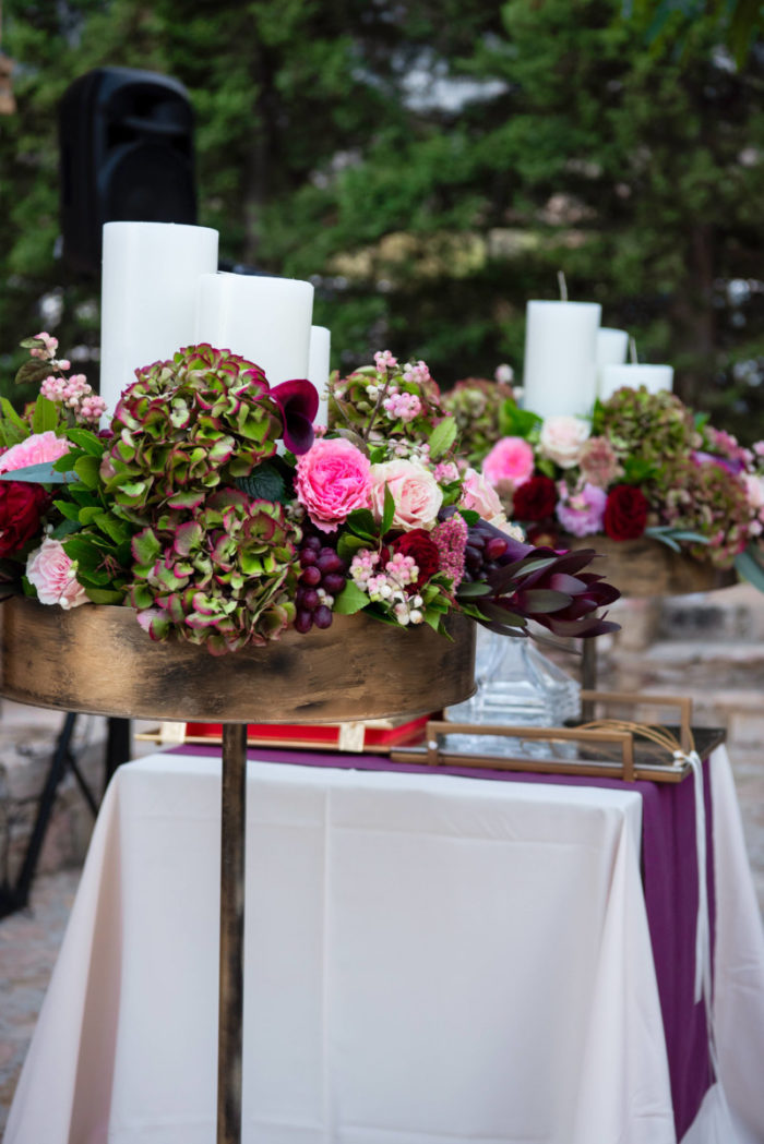 Λαμπάδες Γάμου Φθινοπωρινού Μανουάλια