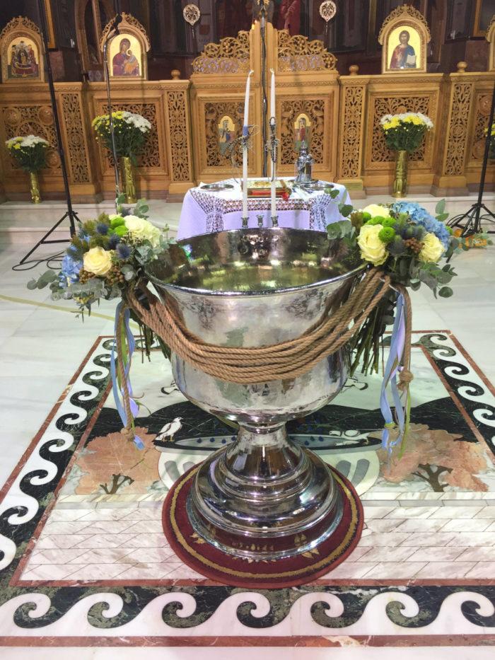 Στολισμός Κολυμπήθρας Βάπτισης Σχοινί