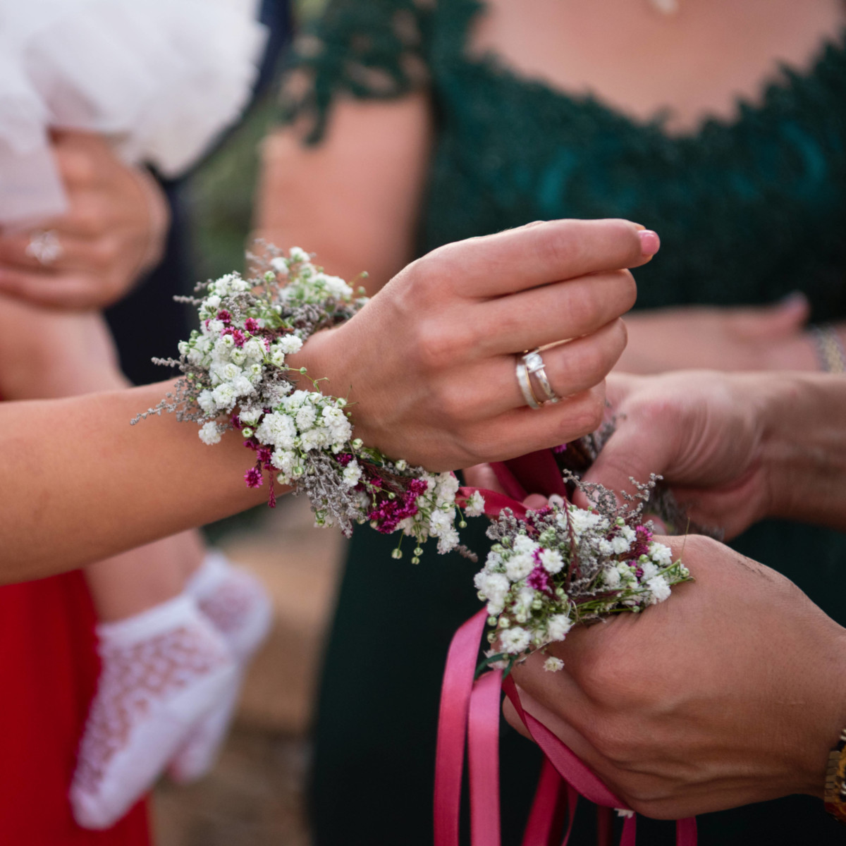 Wedding Corsage Baby's Breath
