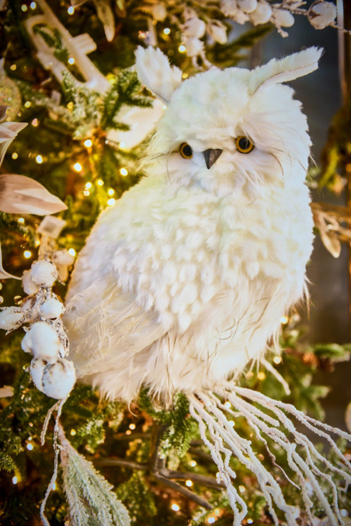 Christmas Decorative White Owl