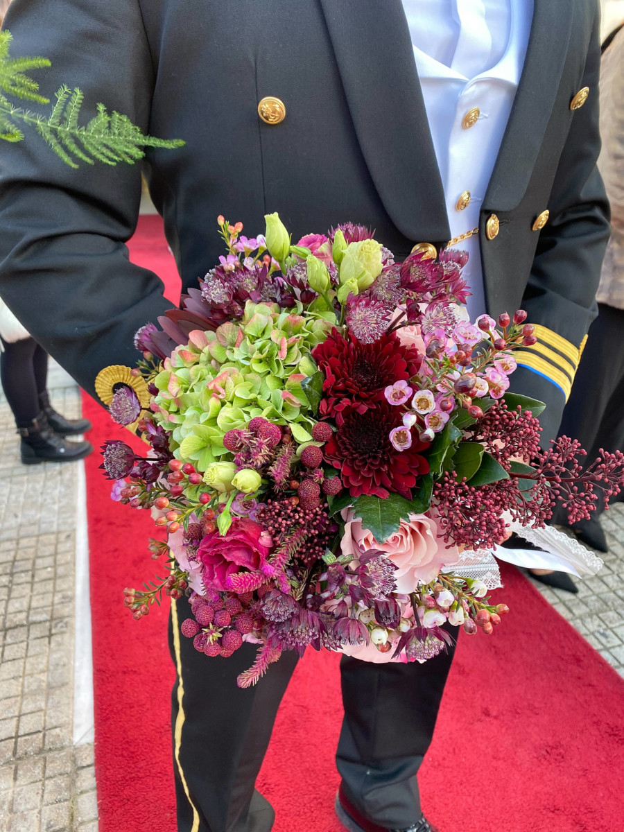 Bridal Bouquet Antique Hyndrangeas