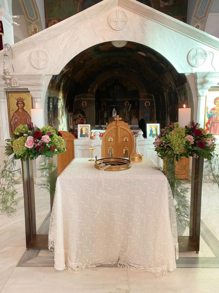 Λαμπάδες Γάμου Μπρονζέ Ανθοστήλες