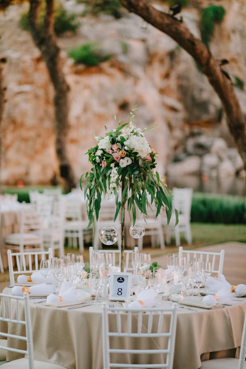 Wedding Venue Decoration Centerpiece Pastel Color