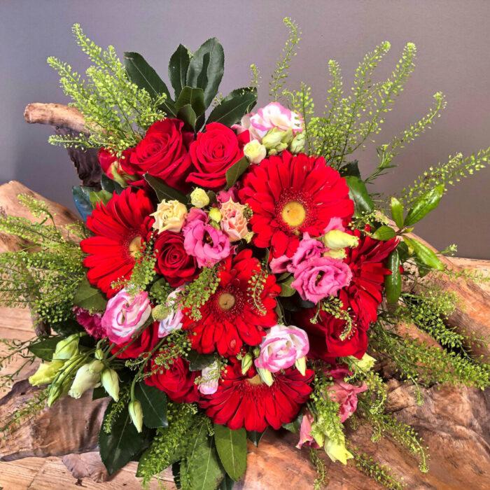 Μπουκέτο Λουλούδια Κόκκινα Τριαντάφυλλα