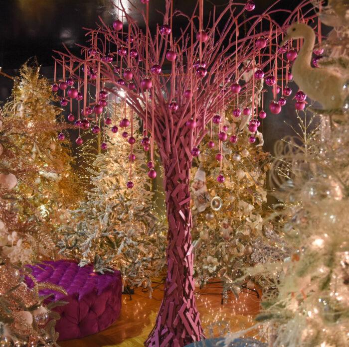 Χριστουγεννιάτικο Δέντρο Ξύλινο Ροζ