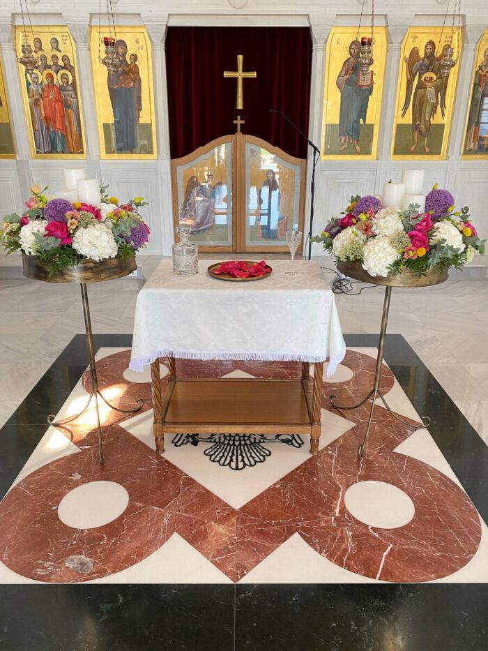 Λαμπάδες Γάμου Μανουάλια Λουλούδια Boho Ύφος