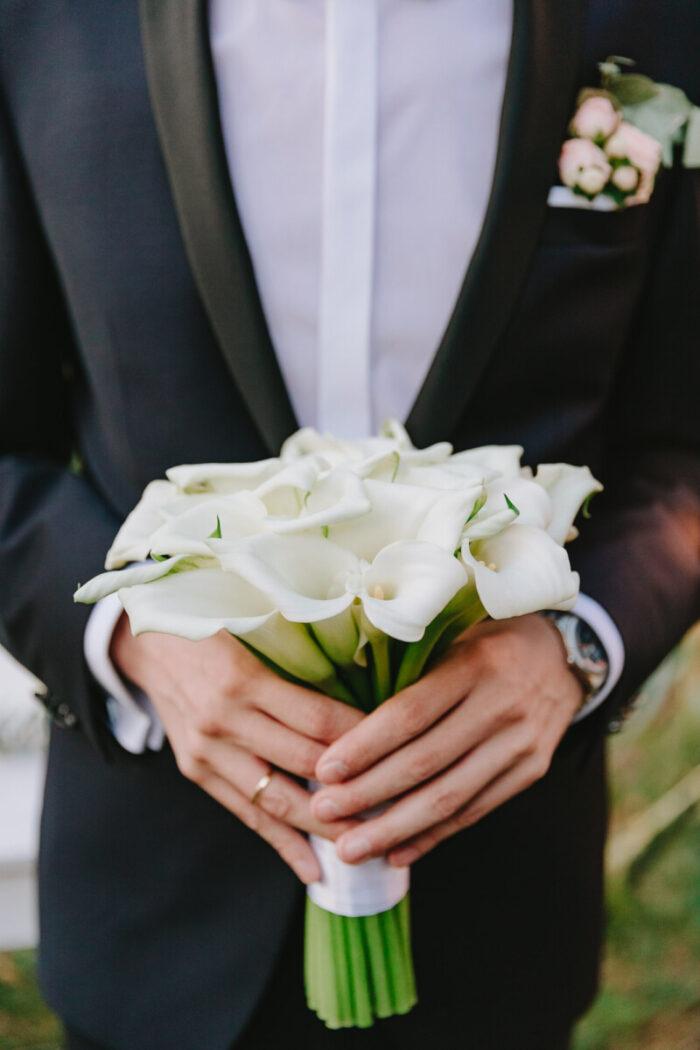 Ανθοδέσμη Γάμου Λευκές Κάλες