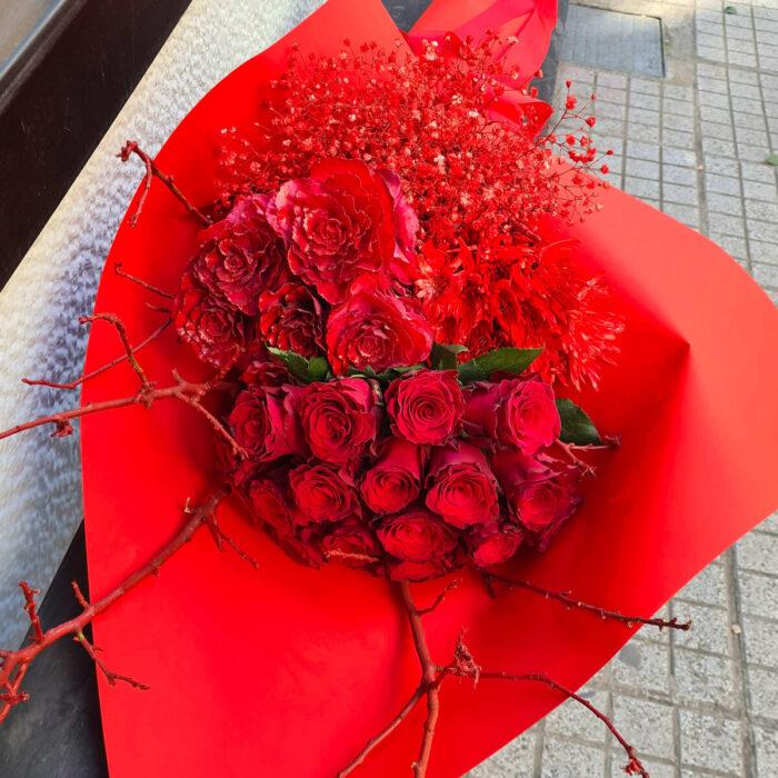 Μπουκέτο Κόκκινα Λουλούδια