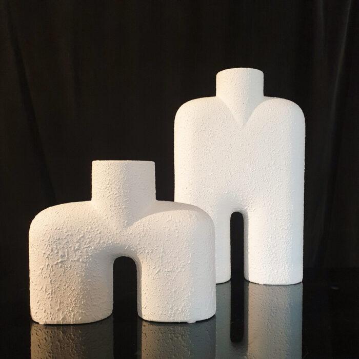 Διακόσμηση Τραπεζαρίας Λευκά Βάζα Κεραμικά