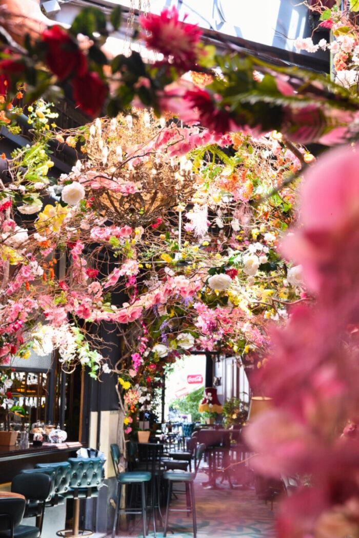 Διακόσμηση Υφασμάτινα Λουλούδια Noel