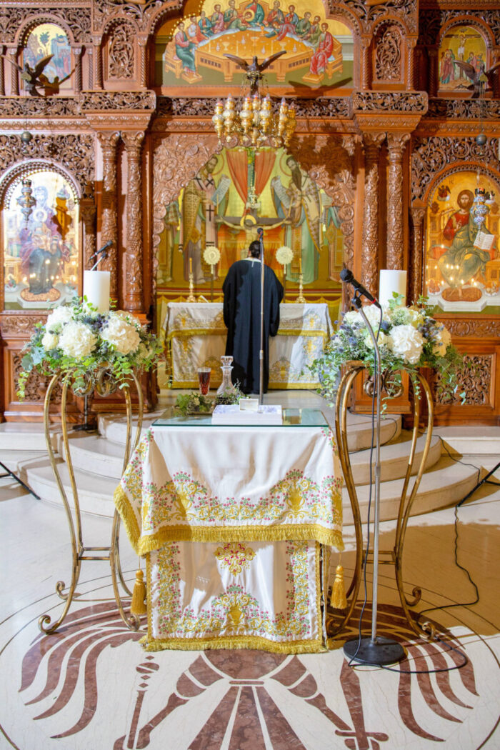 Λαμπάδες Γάμου Χρυσές Ανθοστήλες