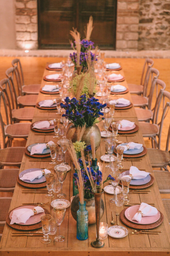 Greek Wedding Reception Decoration