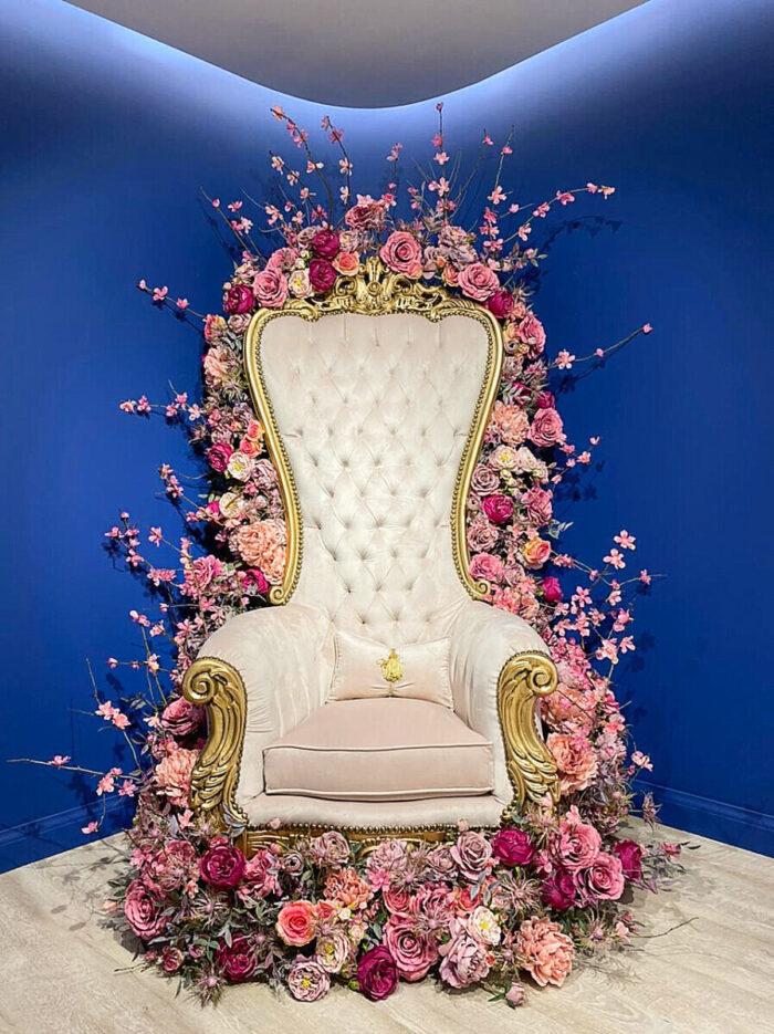 Armchair Decoration Fabric Flowers