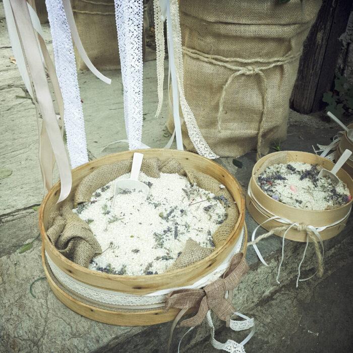 Rice Corner Sieve Lavenders Dried
