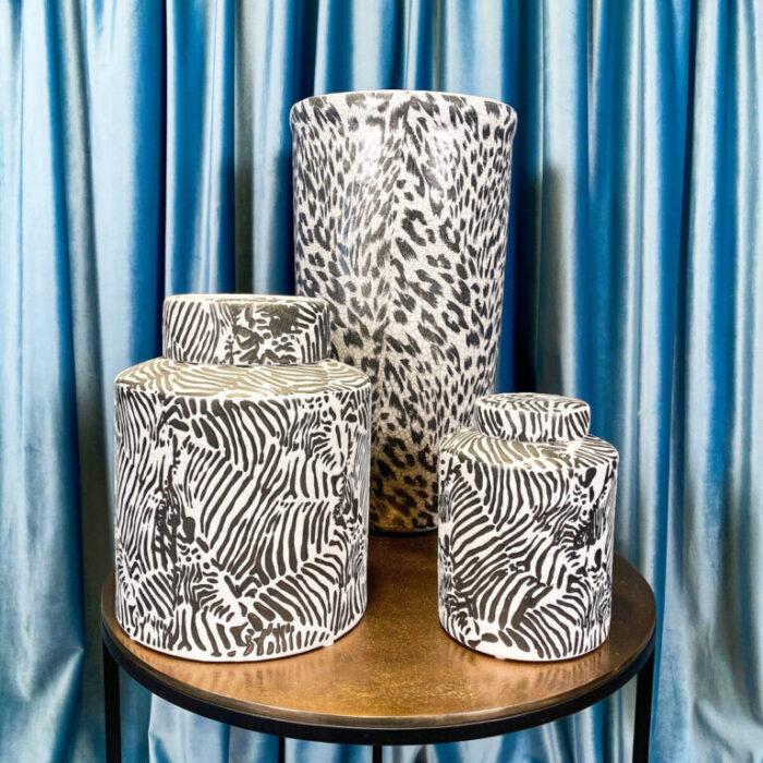 Dining Room Decoration Zebra Pattern Vases