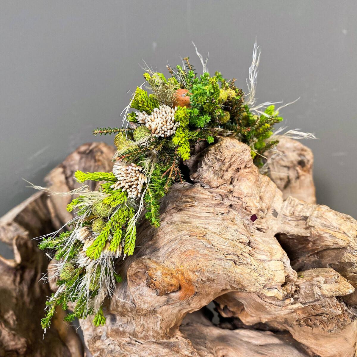 Safari Pampas Grass Little Hair Wreath for a Bride