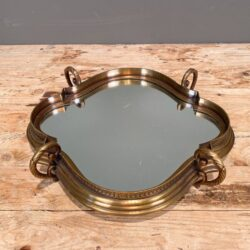 Δίσκος Γάμου με Καθρέφτη Μεταλλικός Μπρούτζινος 36*31εκ