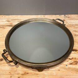 Δίσκος Γάμου Καθρέφτη Στρογγυλός Χρυσός - Μπρονζέ Μεταλλικός 47*40εκ
