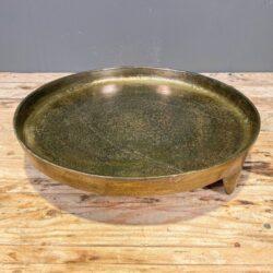 Δίσκος Γάμου Χρυσός Μεταλλικός Αλουμινίου Στρογγυλός Πόδια 34εκ