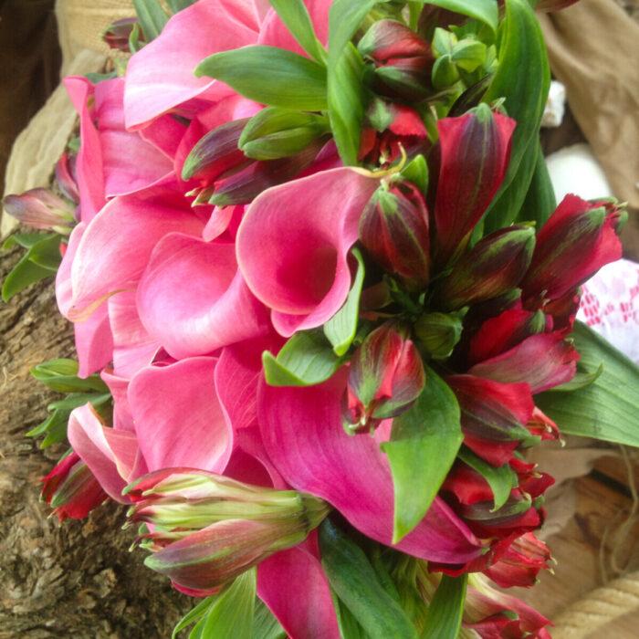 Bridal Bouquet Alstroemerias Callas