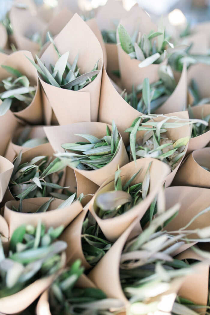Rice Cones Olive Leaves