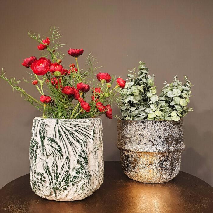 Decorative Pots Gold Tropical