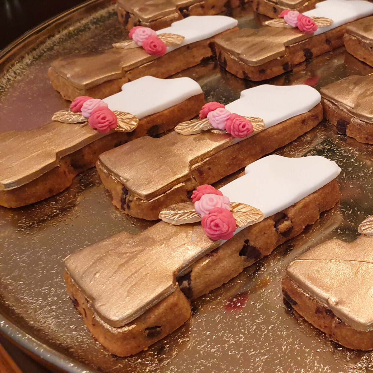 Christening Candy Bar Cookies Number One